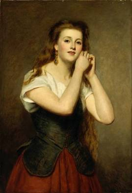 William_Powell_Frith_nieuwe_oorbellen_1875