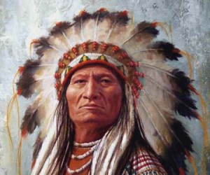 sitting-bull-headdress-detail