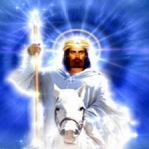 El Morya en caballo blanco