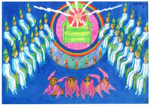 hoofdstuk 4 ; de troonsheerlijkheid van God