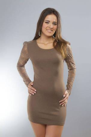 jurk-longshirt-met-lange-mouwen-bruin