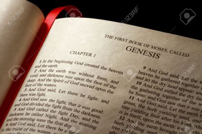 12598026-Chapter-1-of-the-Book-of-Genesis-in-the-Old-Testament-of-the-Holy-Bible-Stock-Photo