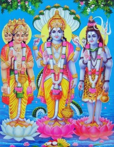 Brahma, Vishnu,Shiva