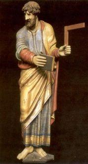 www.heiligen-3s.nl/heiligen/07/03/07-03-0100-Thomas-Apostel(Didymus).php +++ > 1600. Houtsculptuur Nederland, Venray, St-Petrus' Bandenkerk.