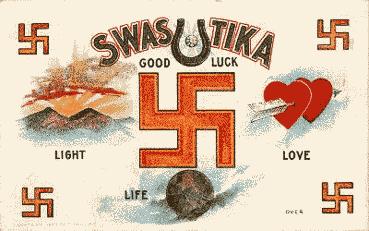 Gelukssymbolen met swastika