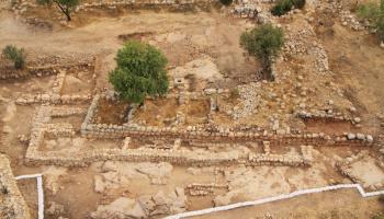 oude gebouwen uit de tijd van koning David