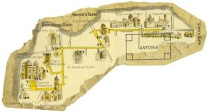 Van de veroordeling van Pilatus tot op Golgotha