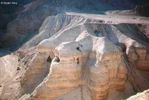 De grotten nabij Qumram