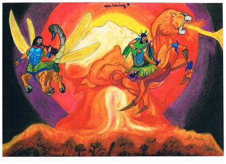 Openbaring hoofstuk 9 ; de vijfde en zesde bazuin