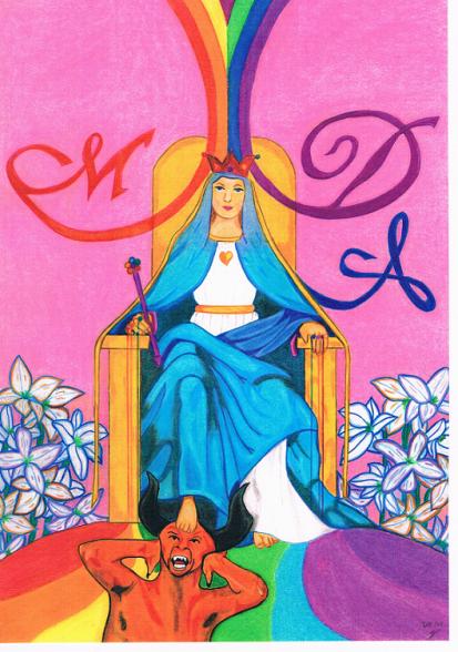 Maria Domina Animarum Maria, de koningin van elke ziel en heerseres over de demonen