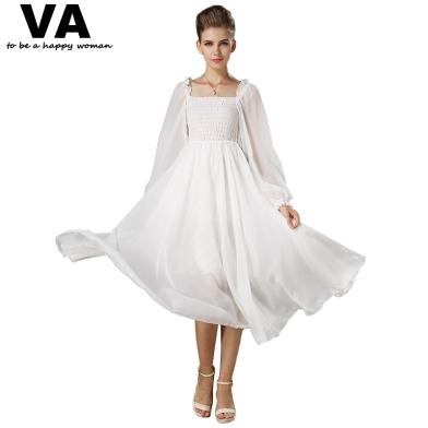 vrouwen-elegante-witte-jurk-een-lijn-lantaarn-mouwen-vierkante-kraag-vrouwelijke-jurk-lange-jurken-casual-kleding