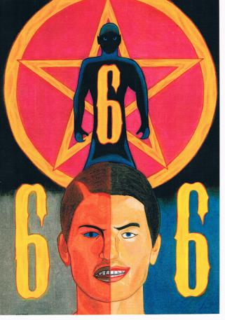 Lucifer, de satan met symbool 666. Deels reeds geïncarneerd in de antichrist