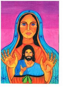 Jezus uit en in Maria