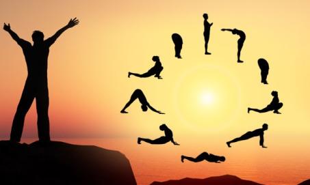 zonnegroet, yoga