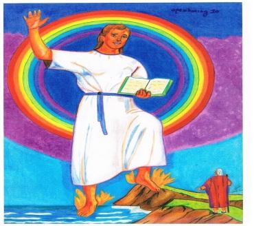Openbaring hoofdstuk 10 : De verkondiging van De Blijde Boodschap