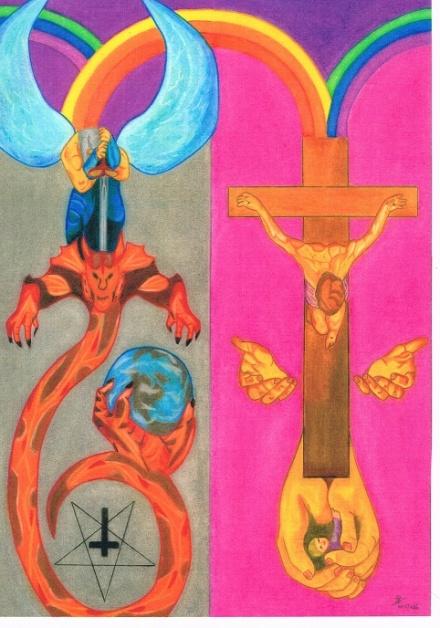 het-einde-van-de-draak-666-door-het-kruis