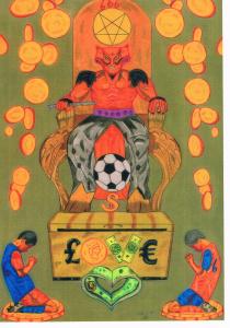 Hebzucht in voetbal olv de duivel