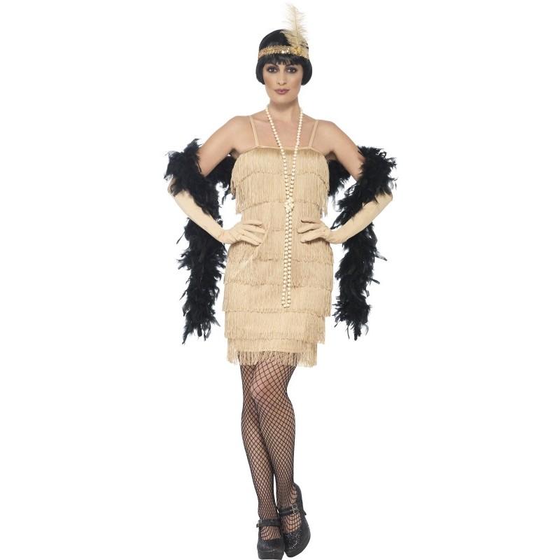 Betere charleston-jurk-beige-jaren-20-kleding-dames | Mensensamenleving.me HG-18